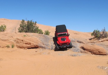 This is Dan's Jeep. He had the kids in his Jeep, we could hear them shrieking over each obstacle.