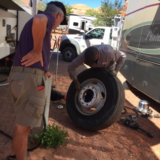 Utah. By the time the tire was changed, Ben had his while family history