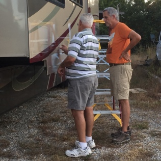 Alabama. Discussing the finer points of RV paint.